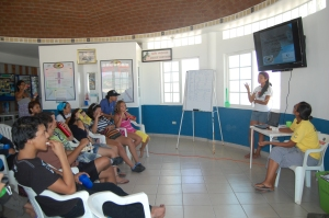 EPI students engaged in a weekend workshop on marine turtle conservation